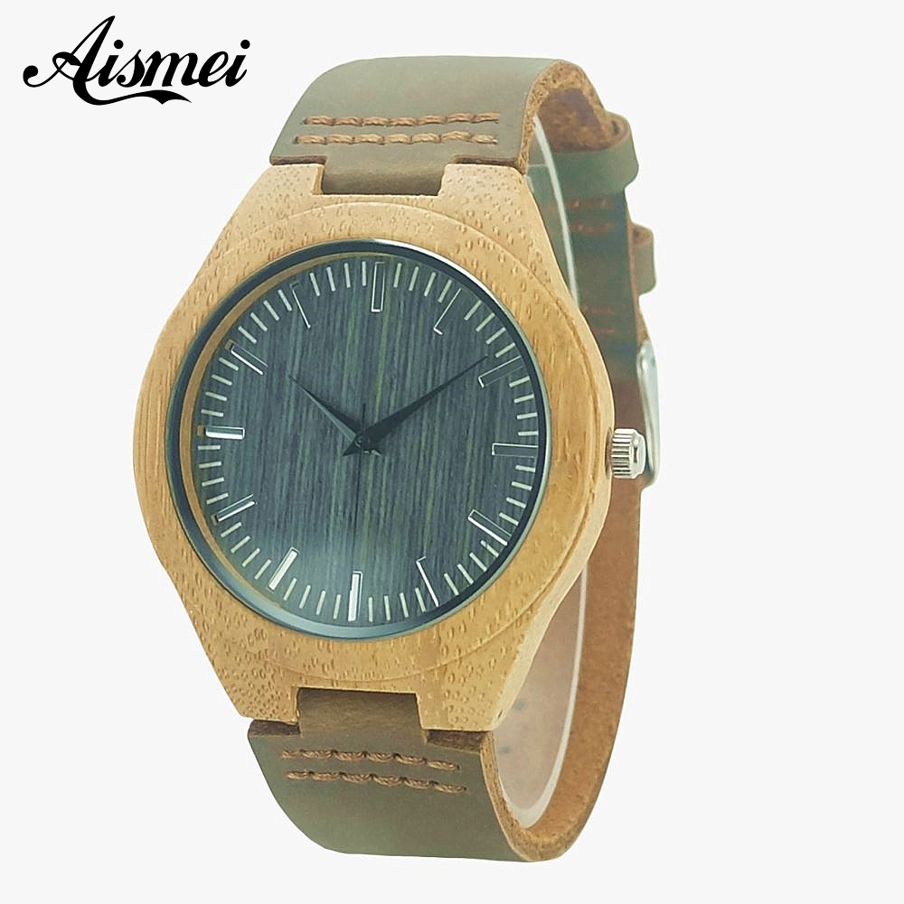 2018 Brand Wooden Quartz Leather Men Bamboo Watches Luxury Wristwatch Male Wood Watch relojes hombre Relogio Masculino brand light wood watch for men luxury natural bamboo wooden mens watches gifts japan quartz movt watch male relogio masculino