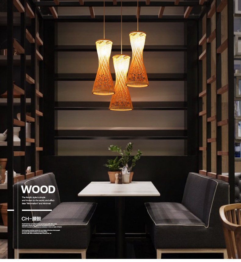 Chinese bamboo bamboo chandelier lamp three garden modern creative restaurant bar bamboo woven bamboo chandelier lighting YA7268 new arrival modern chinese style bamboo wool lamps rustic bamboo pendant light 3015 free shipping
