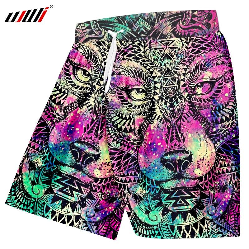 Board Shorts Fashion Style 2018 Men Casual Short Trouser Shorts Pants3d Stars Printed Beach Work Casual Board Shorts Pants