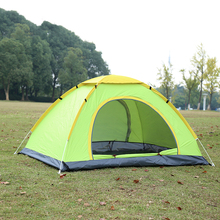 3-4people double layers camping shelter for hiking automatic tent Windproof Waterproof Anti UV Ultralight Camping tourist Tent