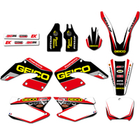 For Honda CR125 CR250 CR 125 250 2000 2001 Motorcycle Team Graphic Background Sticker Decals Kit Pit Dirt Bike Decal