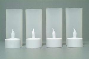 Image 4 - Набор из 4 матовых перезаряжаемых беспламенных светодиодных свечей для свечей с Беспламенной лампой для рождественской свадебной вечеринки 110В/220В на выбор янтарный