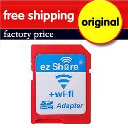 Venta al por mayor 10 unids/lote Original ez-compartir WIFI inalámbrico de alta velocidad adaptador de tarjeta SD, soporte 8 GB 16 GB 32 GB GB para tarjeta MicroSD/tarjeta TF