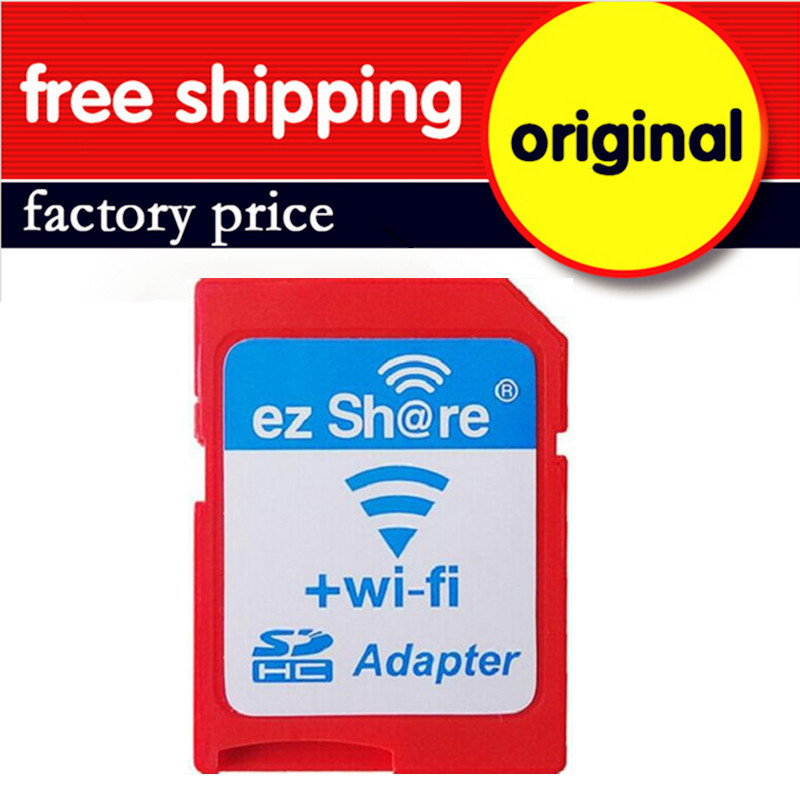 Wholesale 10PCS/Lot Original Ez-share High Speed Wireless WIFI SD Card Adapter Support 8GB 16GB 32GB For MicroSD Card/TF Card
