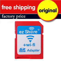 Wholesale 10PCS/Lot Original ez share High Speed Wireless WIFI SD Card Adapter Support 8GB 16GB 32GB for MicroSD Card/TF Card