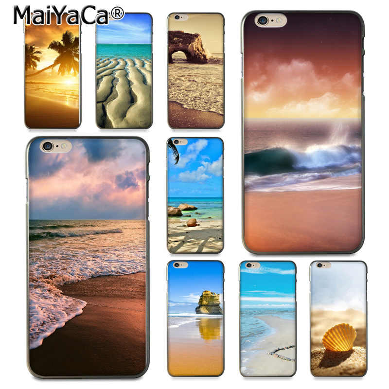 MaiYaCa Sea Sand Beach Tropic Whell Luxury High-end Protector โทรศัพท์สำหรับ iPhone 8 7 6 6S plus X 10 5 5S SE 5C Coque Shell