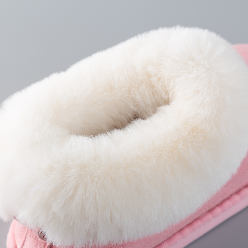 Lizeruee New Women Winter Warm Fur Slippers Men Slippers Cotton Sheep Lovers Home Slippers Indoor Plush Size House Shoes Woman