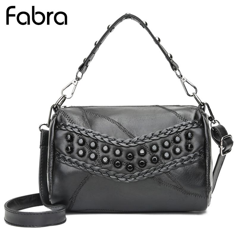 Fabra New Spring Women Handbag Fashion Rivet Mini PU Crossbody Bags Brand Designer Messenger Bag Ladies Shoulder Bags Black
