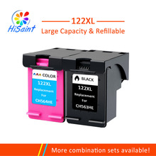Free shipping for HP 122XL CH563H CH564H bk and color ink cartridgefor HP Deskjet 1000 1050 2000 2050 Ink jet printer