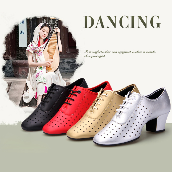 Women's Ballroom Dance Shoes Teacher's Shoe Patent Leather 5.5cm Middle Heel Girls Tango Latin Dance Shoes White Red Gold Black dance legend red show 05 цвет 05