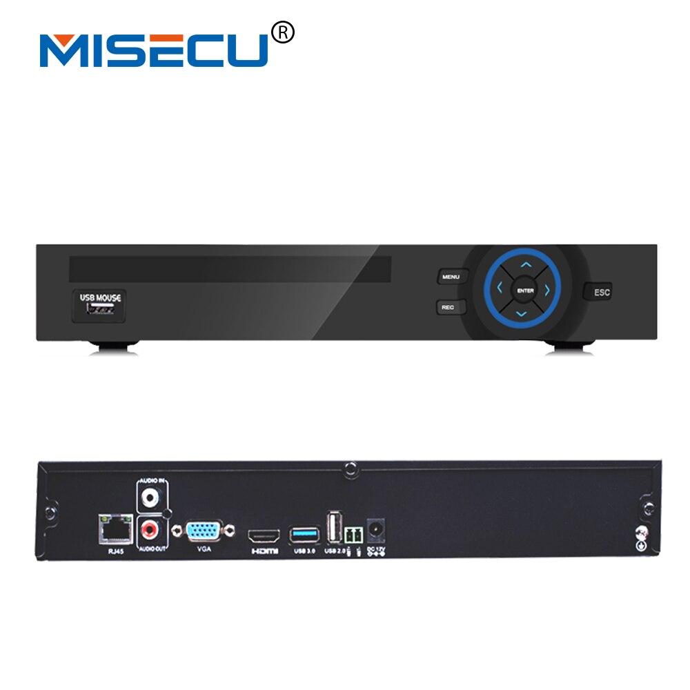 MISECU 8CH * 5 M/16CH * 4 M/32CH 2MP/32CH 1.3MP Détection de Mouvement CCTV NVR Wifi FTP 1CH Audio-Dans ONVIF 2.3 Pour Caméra IP Système de Sécurité