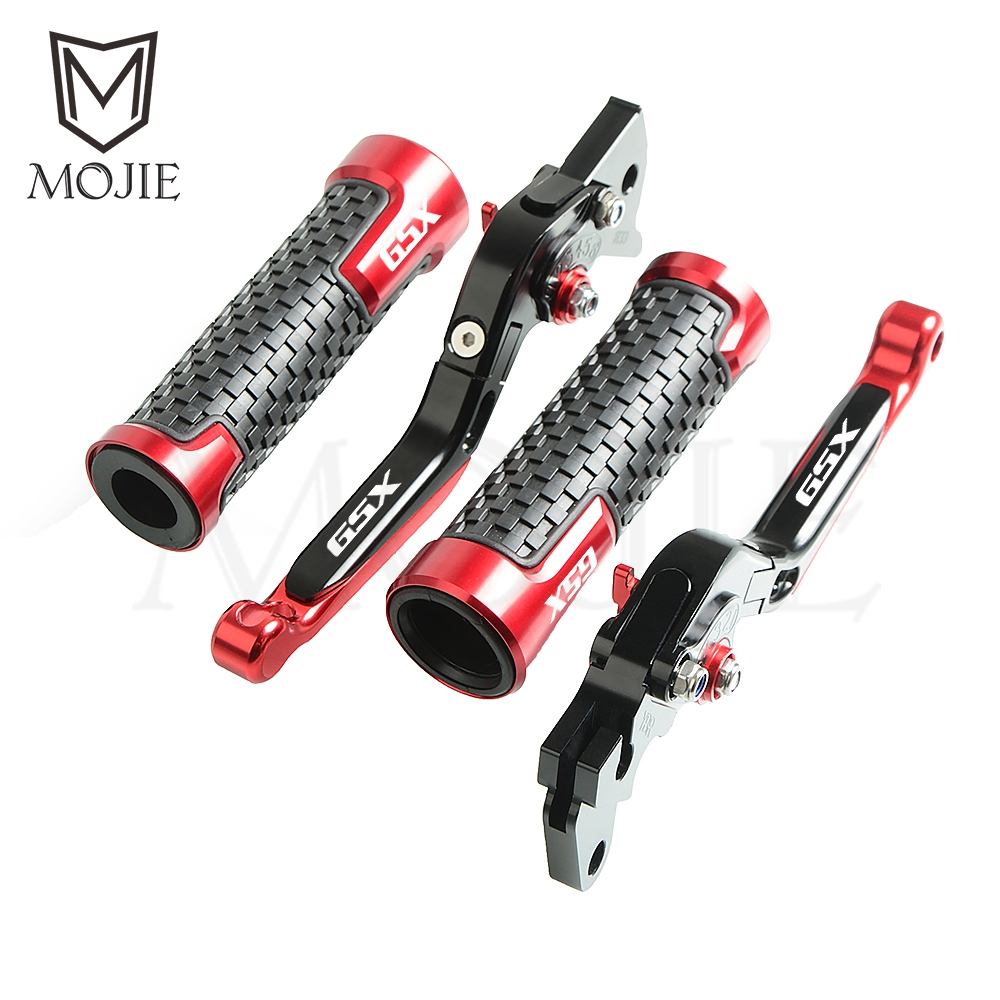 Motorcycle CNC Aluminum Folding Brake Clutch Levers Handlebar Hand Grips For Suzuki GSXR1100 GSX R1100 GSXR