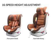 Baby baby child safety seat car with 360 degree rotation 0-12 years old isofix interface(China)