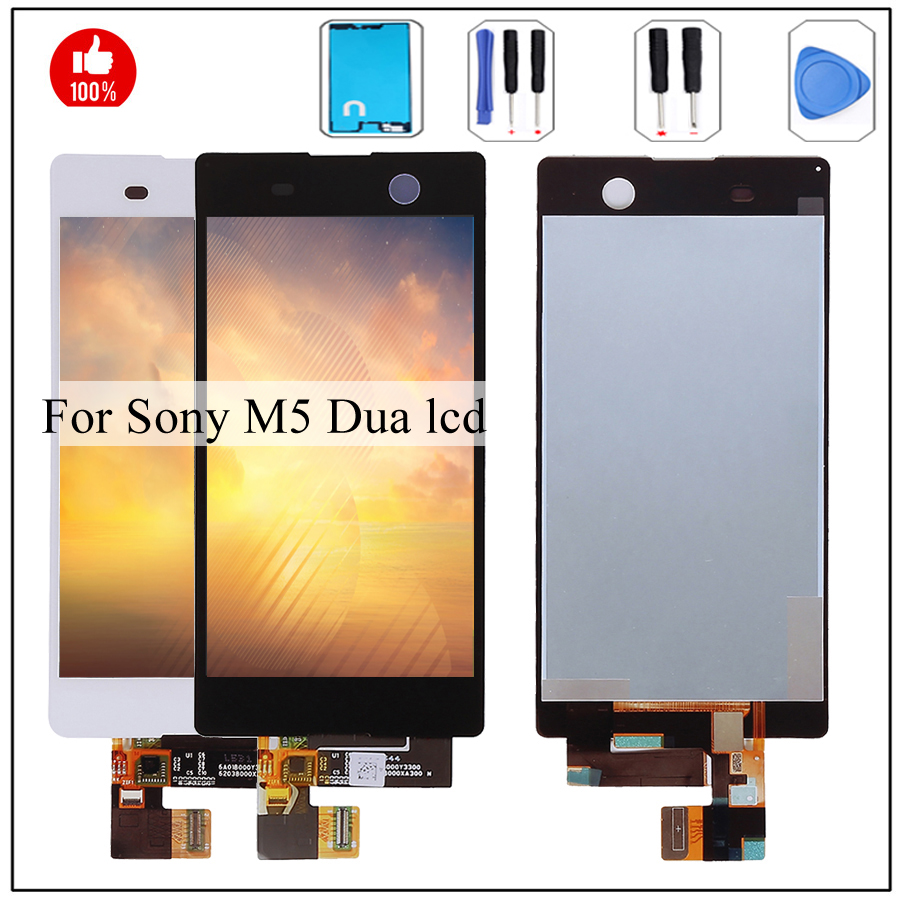 M5 lcd For Sony Xperia M5 Display Dual E5603 E5606 E5653 LCD Display Touch Screen Digitizer Assembly For Sony M5 Dual lcd