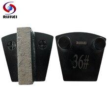 RIJILEI 12PCS/Set Trapezoid Diamond Grinding Disc Metal Diamond Grinding disk for concrete finishing marble Grinding shoes P10B цена 2017