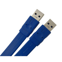 1 M PI USB 3.0 A mâle vers A mâle AM de Données Câble Salut Vitesse 5 Gbps Bleu Super Slim plat