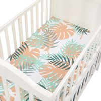 Детская Колыбелька простыня мягкая детская кровать защитный чехол для матраса мультфильм печати постельные принадлежности для новорожден...