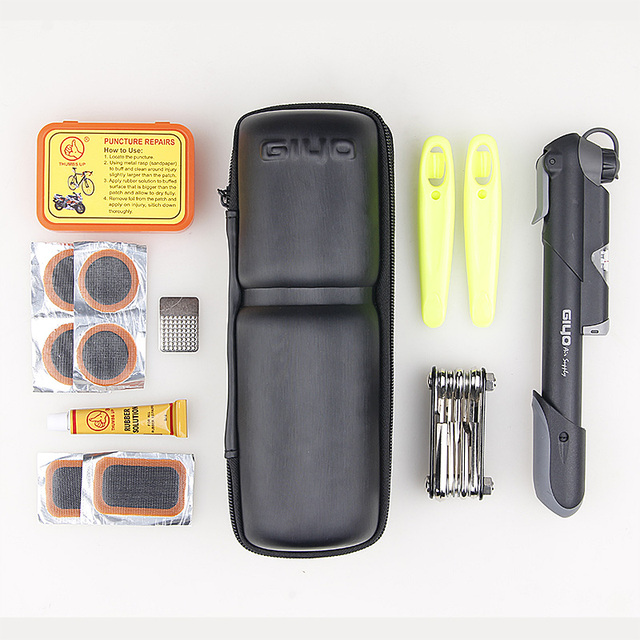 GIYO Bicycle Repair Kits Bag Portable Cycling Bicicle Repair Tools Kits Tire Repair Kits Multifunction Tools Bicycle Bike Tools