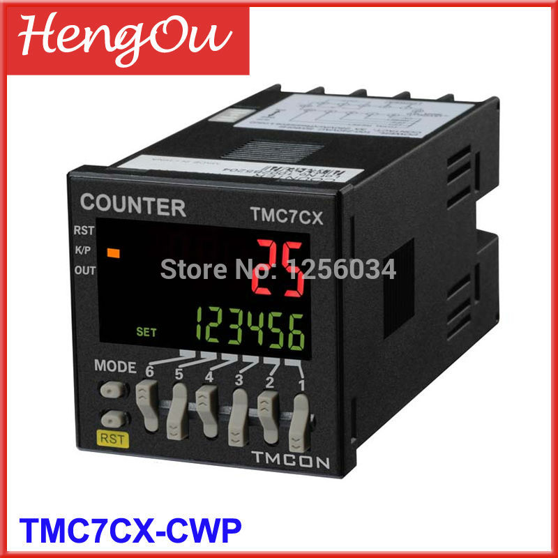 1 piece TMC7CX counter, 6 digits TMC7CX-CWP Preset counter, Electronic counter цена