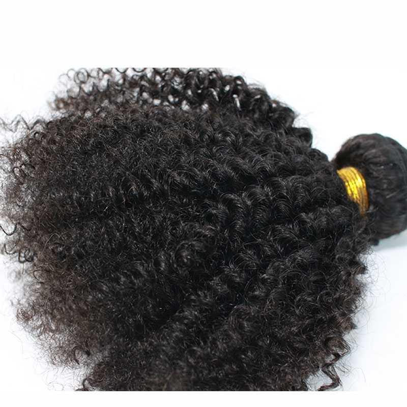 Eseewigs человеческие волосы уток афро кудрявые бразильские волосы переплетения пучки Remy 4B 4C человеческие волосы для наращивания 1 или 3 шт двойной уток переплетения