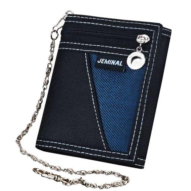 Carteras de moda para hombre de buena calidad de tela de lona monederos de mano para hombre Moneybags monedero billetera tarjetas ID Holder bolsas Burse