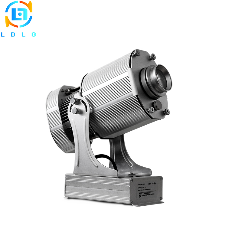 NEWEST Silver Outdoor Christmas Lighting 80W Rotary Image LED Logo Projector IP65 10000lm Custom Gobo LED Lamp Projector Lights company logo advertising silver 20w led rotating image gobo projector 110v 220v 1700lm indoor outdoor led custom gobo projector