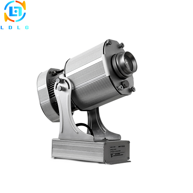 NEWEST Silver Outdoor Christmas Lighting 80W Rotary Image LED Logo Projector IP65 10000lm Custom Gobo LED Lamp Projector Lights