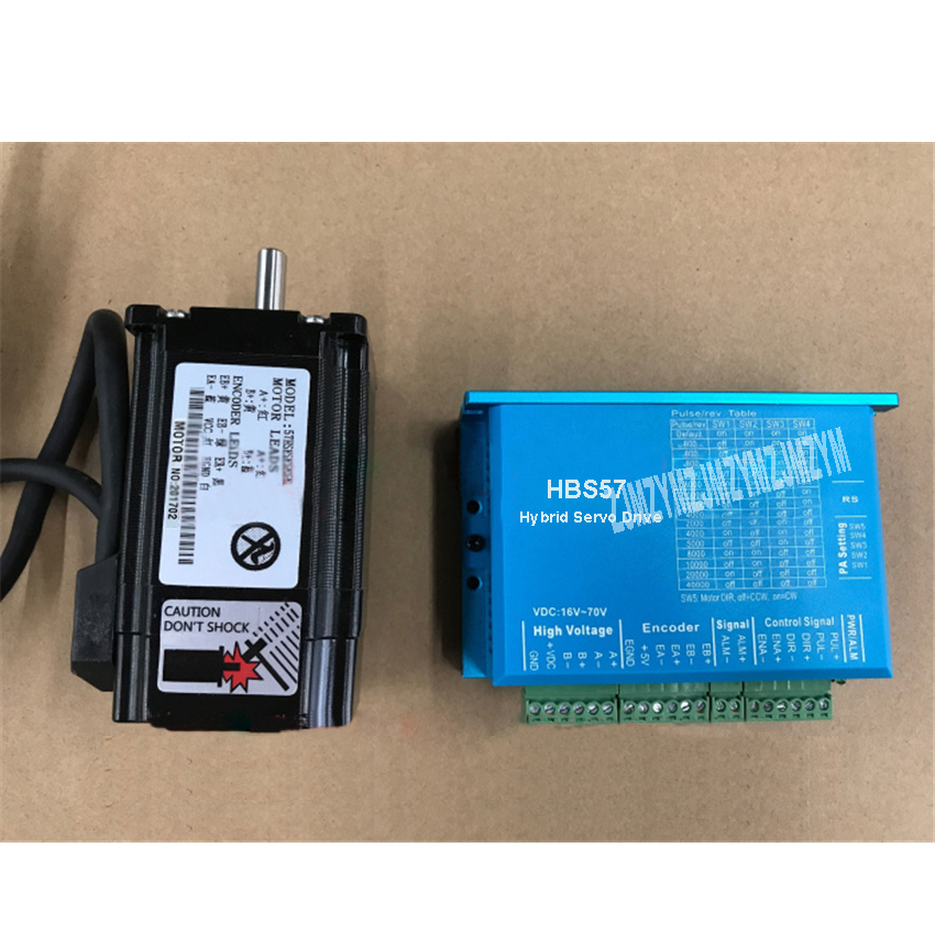 High Quality Stepper Motor Driver Set Hybrid Servo Driver HBS57 2.2N.M 20-50V + 57HSE2N-D25 High Speed Closed-loop Stepper Motor
