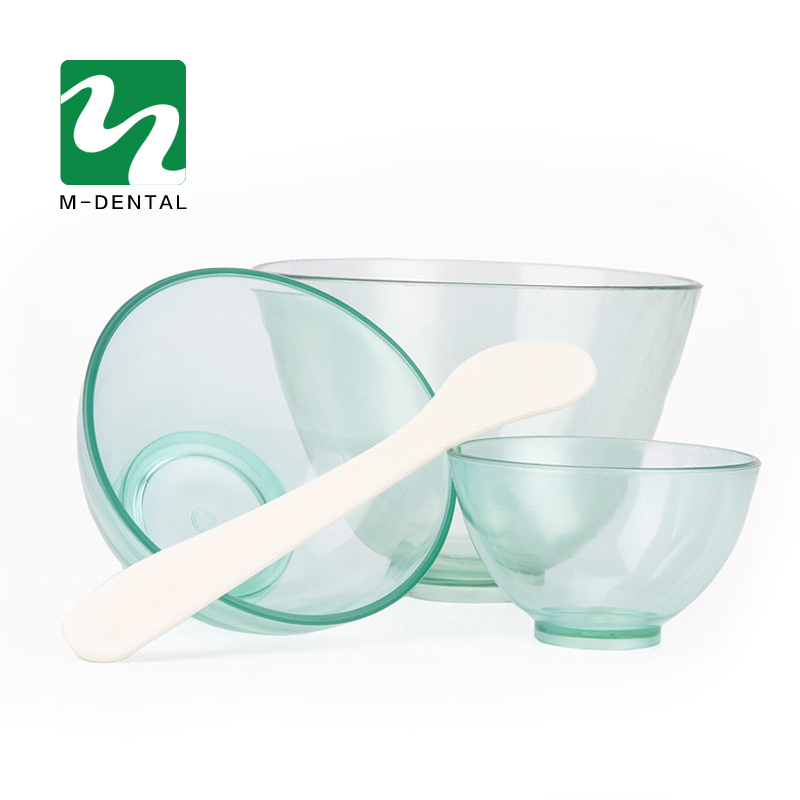 3pcs/Set Transparent Green Dental Rubber Mixing Bowl Plastic Lab Silicon Bowl For Oral Hygiene Tool Free Shipping