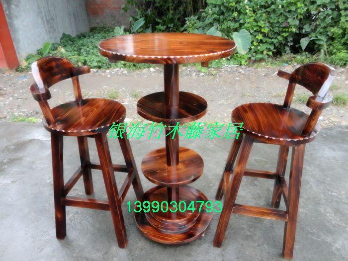 Aliexpress Com Buy Wood Bar Chair Bar Stool Bar Table Small Round High Desk  393 From