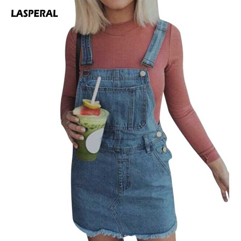LASPERAL 2018 Spring Slip Women Jeans Club Dress Vintage Sundress Loose  Sweatwear Strap Dress Female Mini 69315125dc98