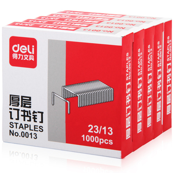 Deli stationery deli 0013 heavy thick layer of staples metal heavy duty staple silver 23/13 staples
