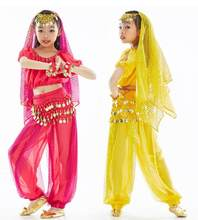 Kids Girl Children Kid Belly Dance Costume Coin Bollywood Indian Bellydance Belly Dancing Costumes Sets Egypt Egyptian(China)