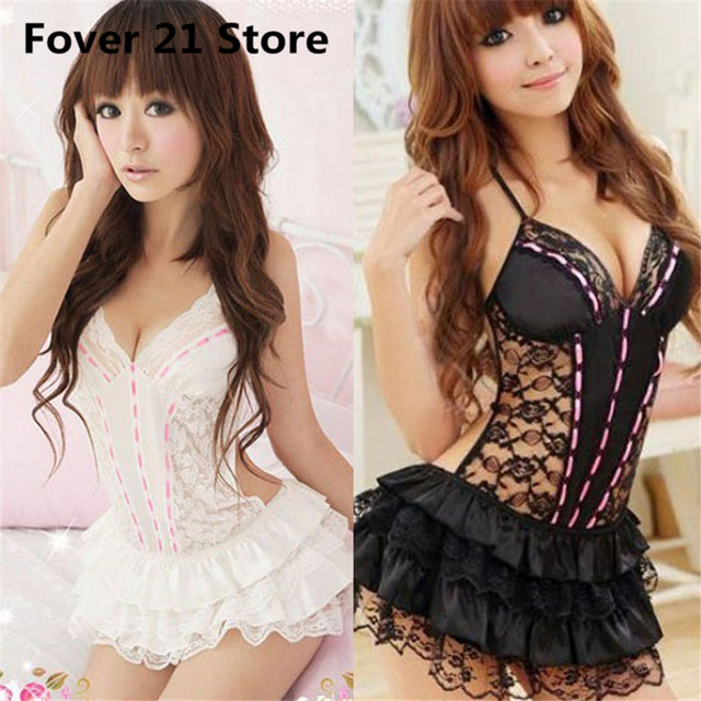 619f413b207 snowshine4 1PC Lace Sexy Passion Lingerie Backless Halter Babydoll G-string  Dress Free Shipping Wholesale