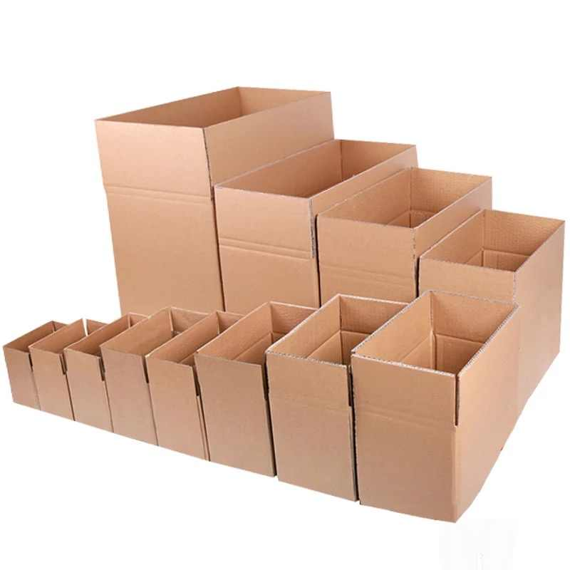 10pcs/lot Wholesale 7 Sizes Kraft Paper Mailing Box Express Transportation Corrugated Packing Box