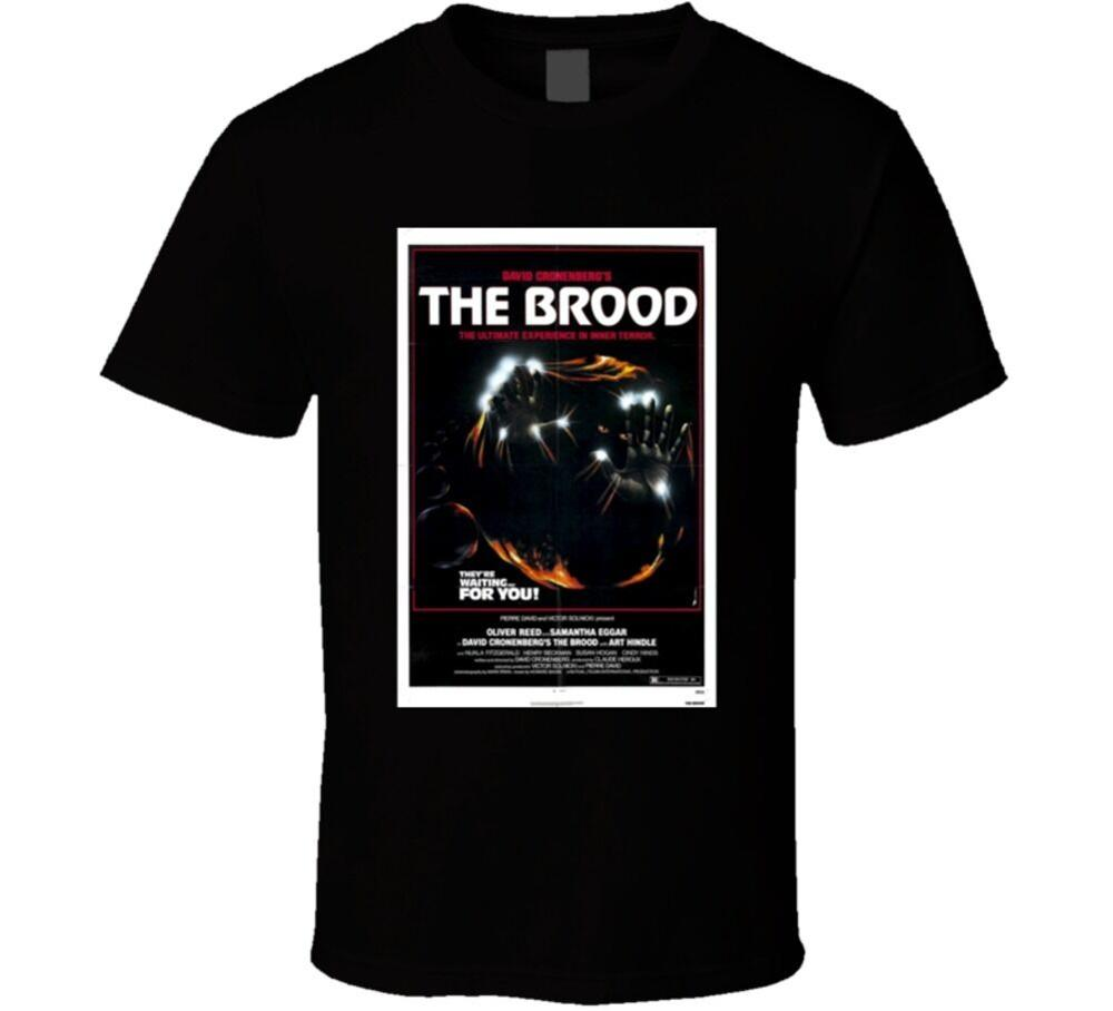 Animal Farm Porn Vintage Movie the brood cool vintage 70's movie poster t shirt new design men tee tops  short sleeve cotton fitness street distressed t-shirt