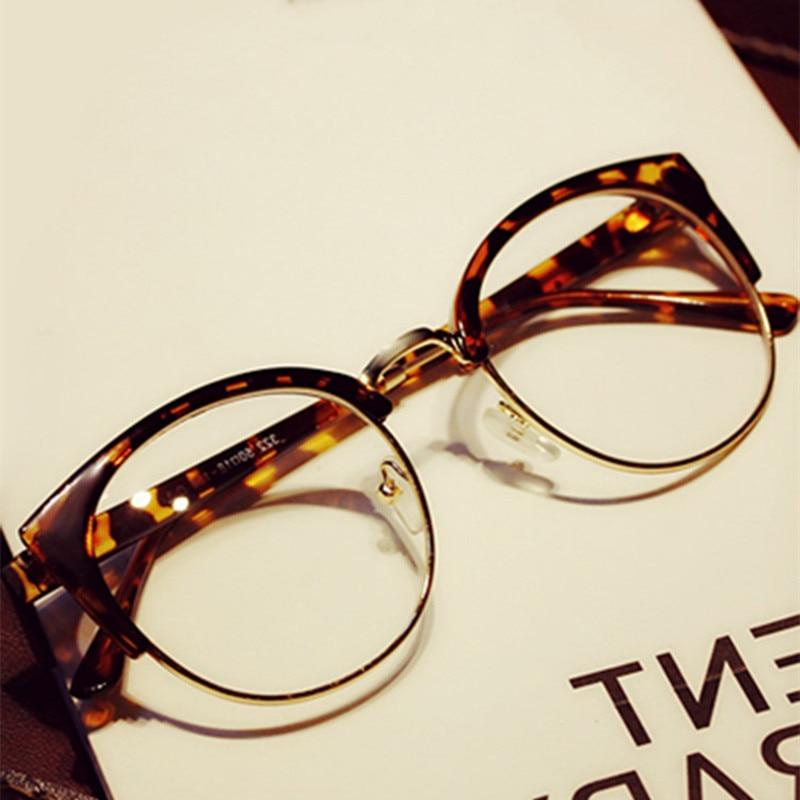 High Quality Women Fashion Brand Designer Cat's Eye Glasses Half Frame Cat Eye Glasses Women Eyeglasses Frames Grau Oculos