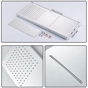 Image 4 - Uythner ścienny łazienka deszcz wodospad zestaw prysznicowy z kranem ukryty chromowany System prysznicowy do wanny i prysznica mikser kran z kranu