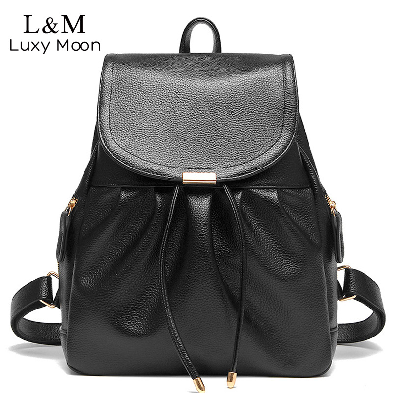 Women Backpack High Quality PU Leather Backpacks Drawstring School Bags Fashion Black Bag For Teenage Girls White mochila XA117H монитор dell se2716h 27 va black