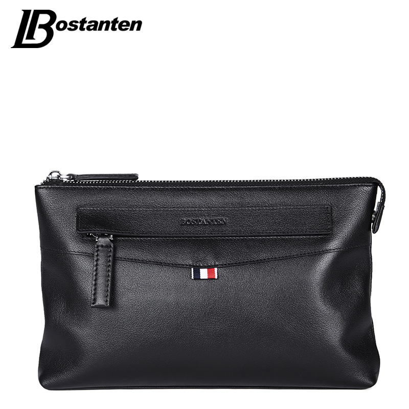 Bostanten High Quality 2017 Business Long Men Wallets Genuine Leather Clutch Bag Brand Men Purse Cell Phone Card Holder Wristlet 2017 genuine leather wallets for men men s business clutch bag for phone cases brand design cowhide multi function casual bags