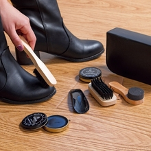 7pcs set Men Women Wood Suede Sole Shoe Cleaner set cleaning brush shoe polish Leather Surface