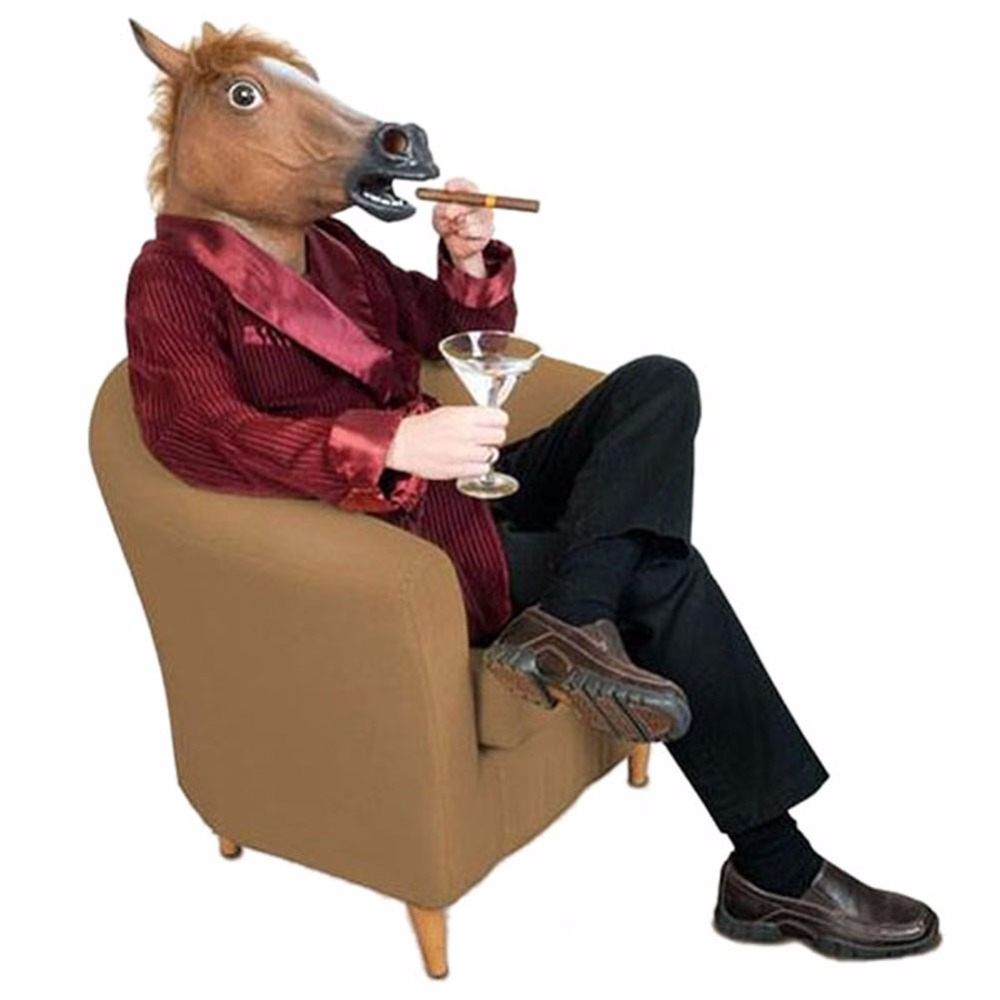 Naujųjų metų žirgų galvos kaukė Gyvūnų kostiumas n Žaislai - Šventės ir vakarėliai - Nuotrauka 3