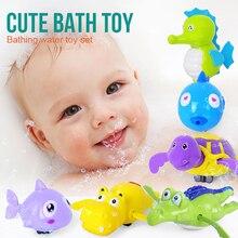 Cute Cartoon Animal  Classic Baby Water Toy Infant Swim Turtle Childrens Chain Clockwork Dabbling Bath Toys
