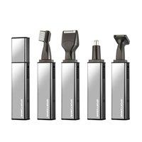 SPORTSMAN 4 w 1 Mężczyzn Ucha Nosa Narzędzia Zestaw Do Golenia Brody Włosy Brwi Trymer Elektryczny Akumulator Baki Przycinanie Maszyna