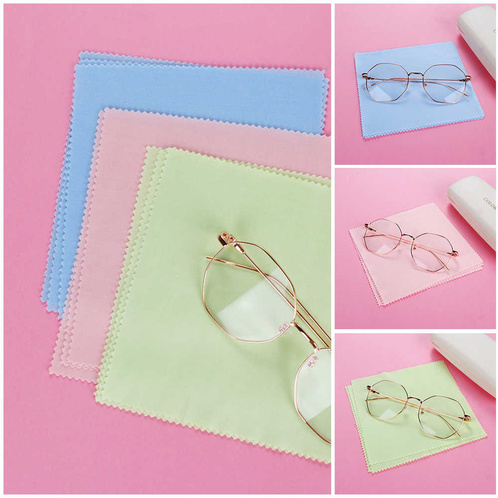 5pcs Eyeglasses Wipes Microfiber Fiber Cleaning Cloths Phones LCD Laptop Screens Easy Washing Lens Cleaner Delicate Surfaces