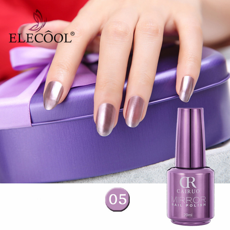 Beauty & Health Collection Here Mirror Effect Metallic Nail Polish Nail Art Gel Lacquer Bright Purple Off White Gold Color 12 Colors Long Lasting Nagellak Tslm1
