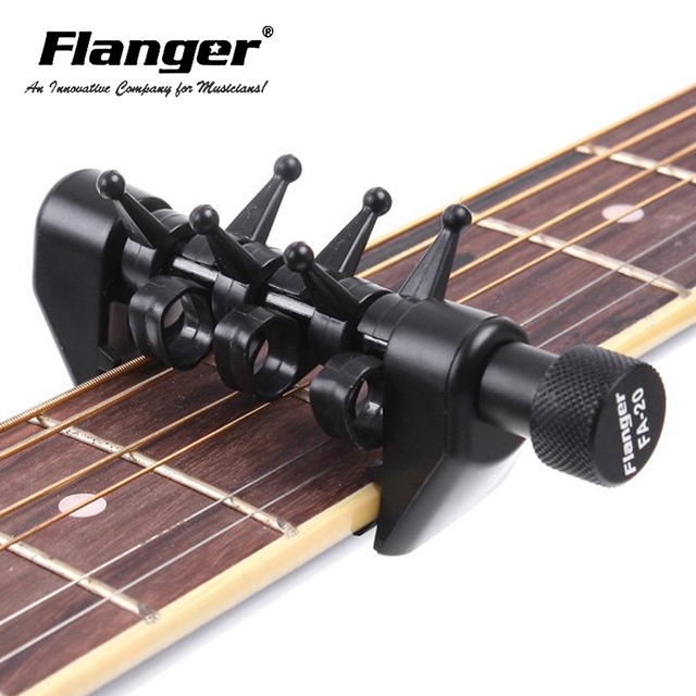 New Arrival FA-20 Flanger Flexi Portable Alternative Tuning Guitar Capo Black Color Musical Instrument
