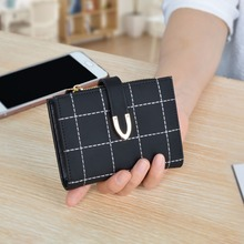 AOEO Small purses& wallets Mini For Girls Independent Zipper Coin Purse Smooth Leather Double Photo Holder Women wallet Female