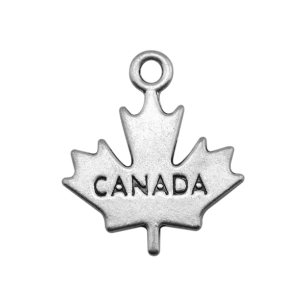 my shape 20pcs two sides engraved Canada maple leaf charm