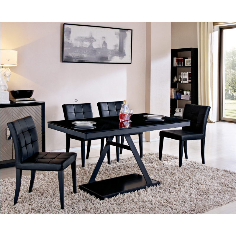 Black Tempered Gl Dining Table Migrant Resource Network